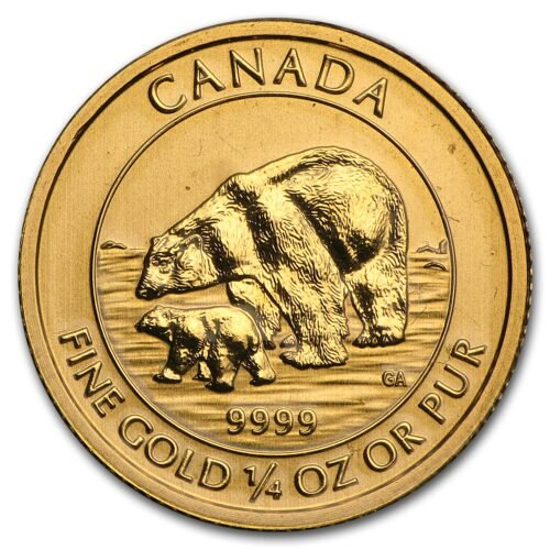 The Royal Canadian Mint produces the polar bear and cub gold coin, which is popular among gold coin collectors.